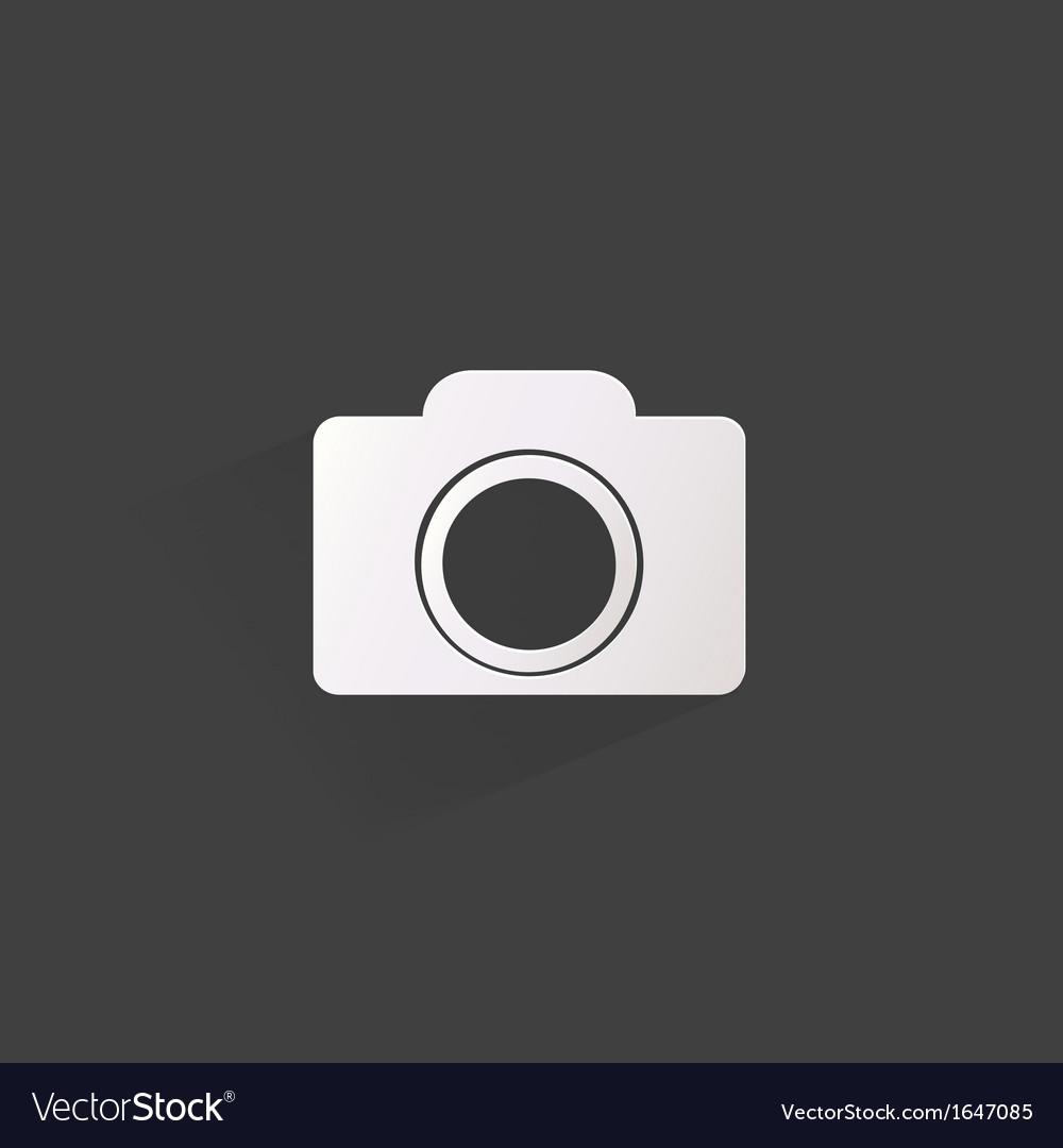 Photo camera web iconflat design vector | Price: 1 Credit (USD $1)