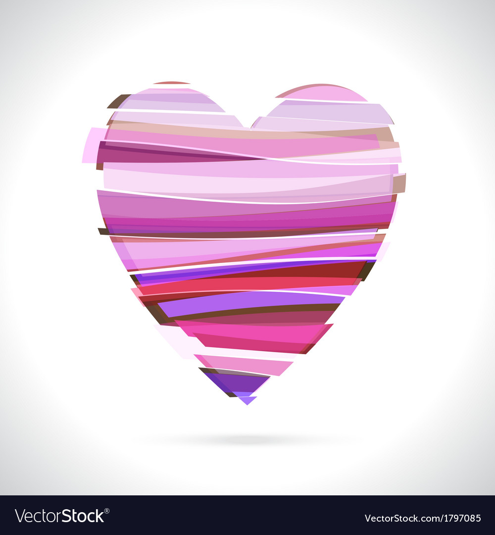 Red broken heart vector | Price: 1 Credit (USD $1)