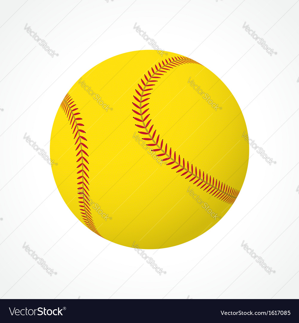 Softball ball vector | Price: 3 Credit (USD $3)