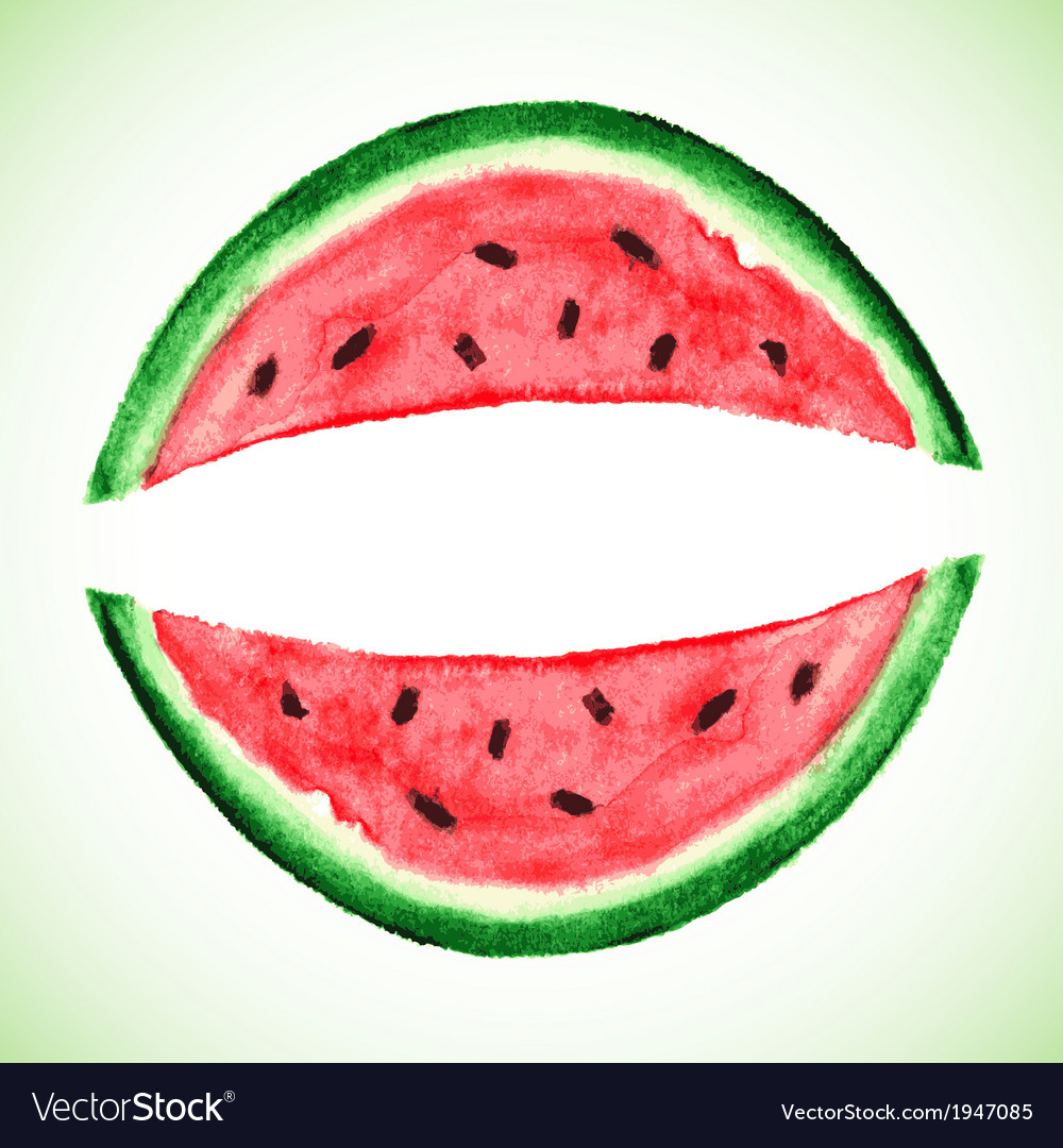 Watercolor watermelon slice vector | Price: 1 Credit (USD $1)