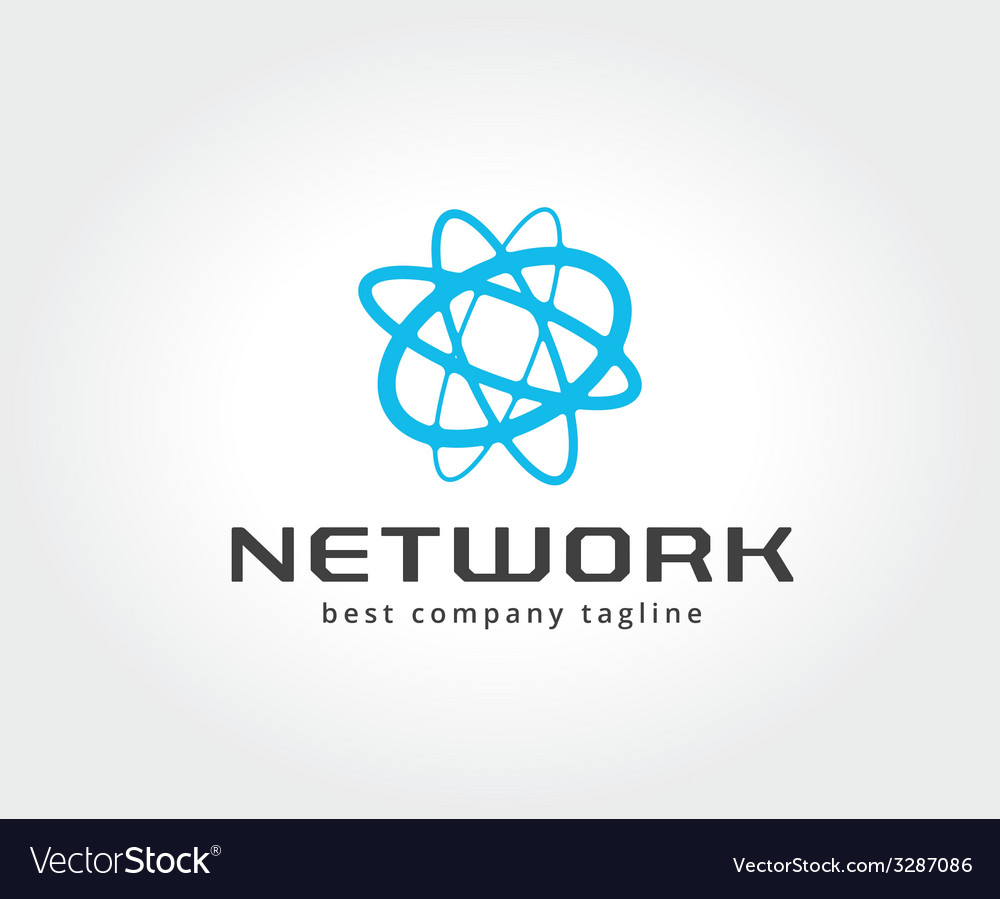 Abstract network logo icon concept logotype vector | Price: 1 Credit (USD $1)
