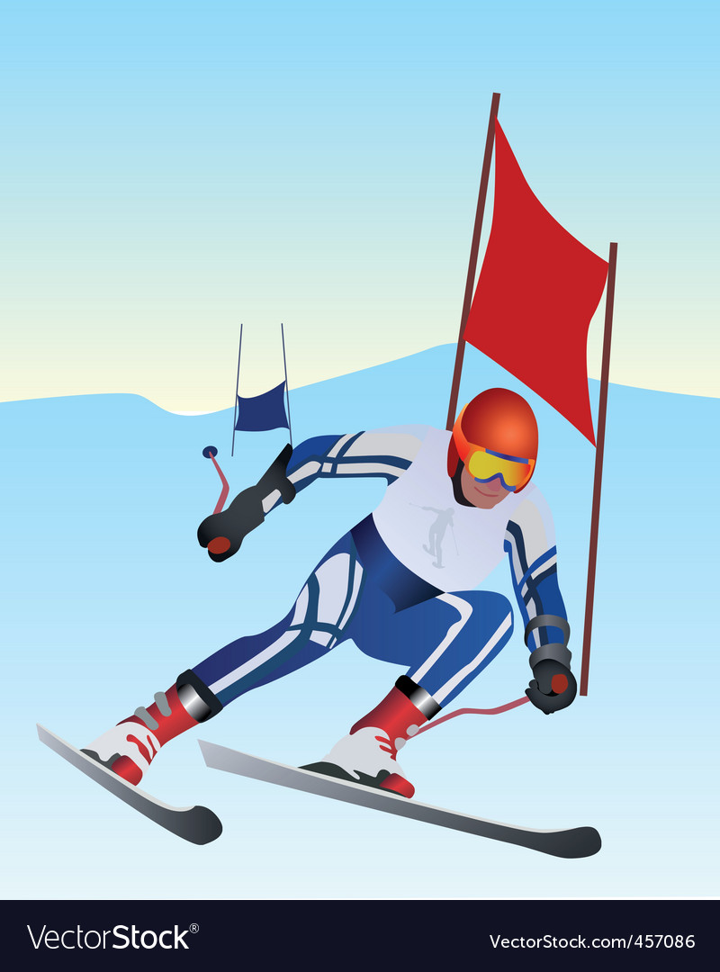 Athlete skier vector | Price: 1 Credit (USD $1)
