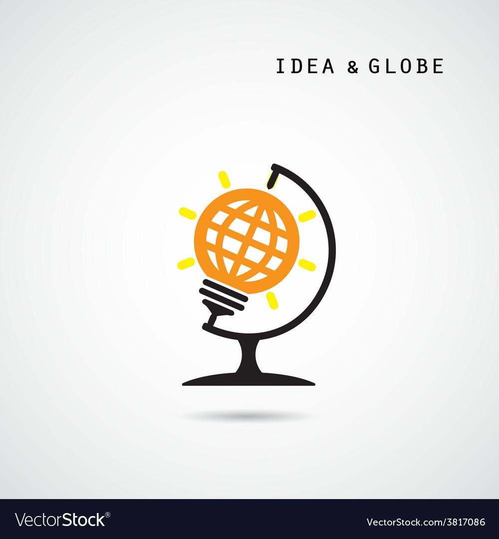 Creative bulb abstract logo design vector   Price: 1 Credit (USD $1)