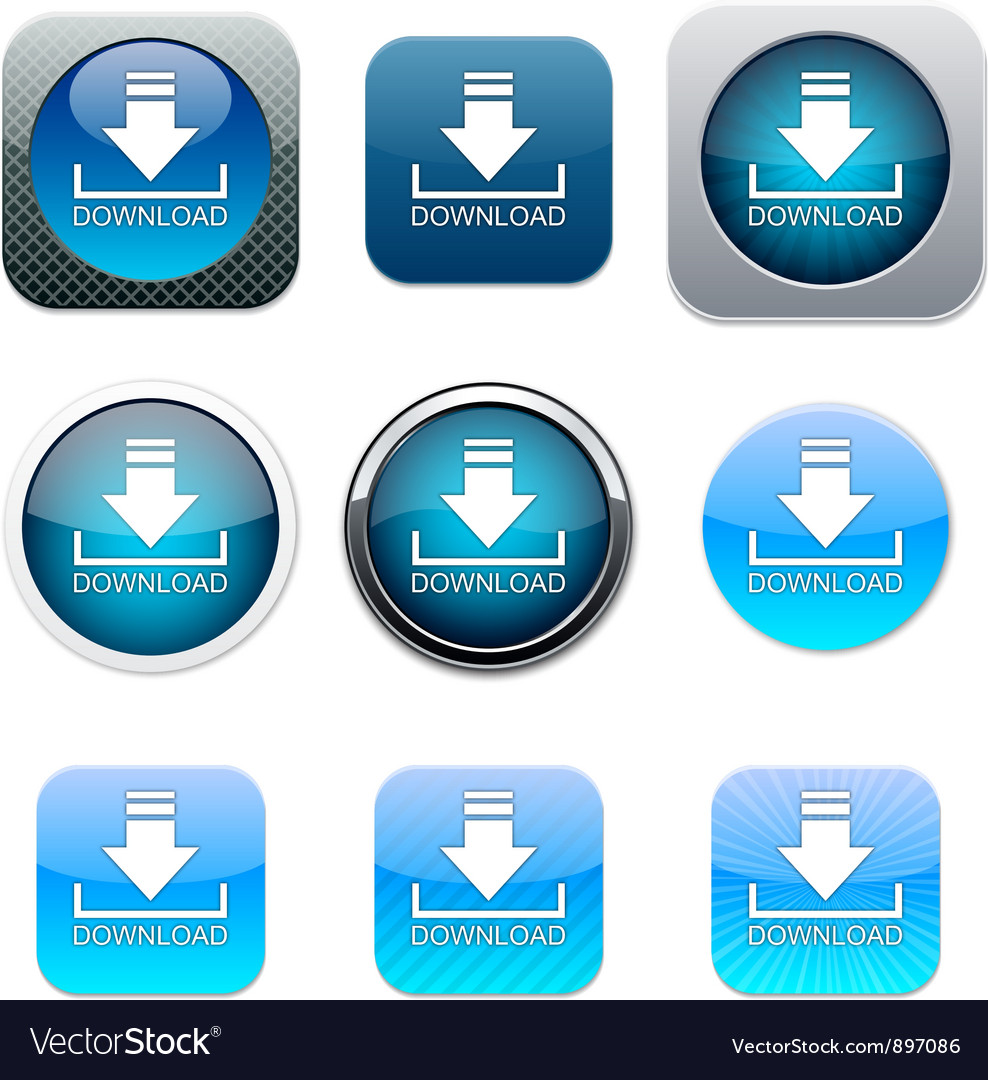 Download blue app icons vector | Price: 1 Credit (USD $1)