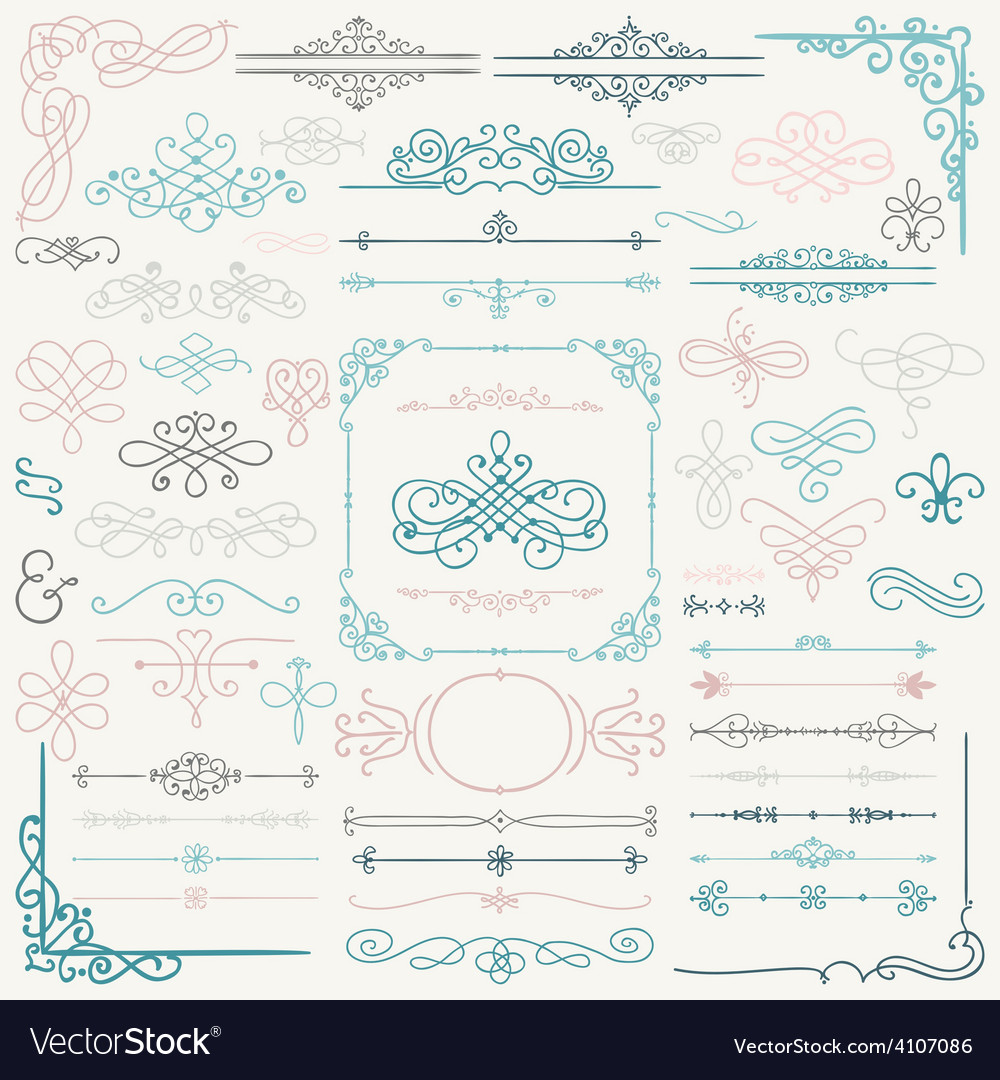 Hand drawn design elements vector | Price: 1 Credit (USD $1)