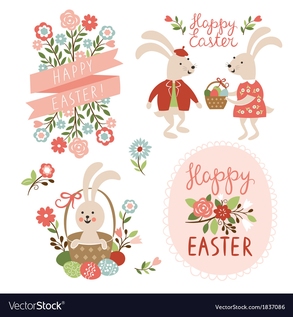 Happy easter cards vector | Price: 3 Credit (USD $3)