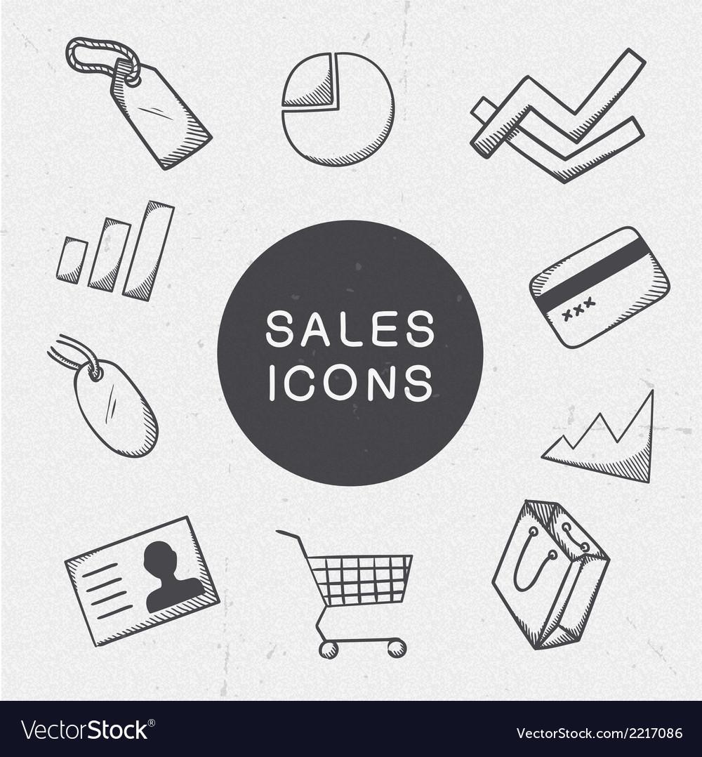 Marketing symbols set vector | Price: 1 Credit (USD $1)