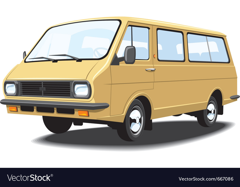 Mini bus vector | Price: 3 Credit (USD $3)