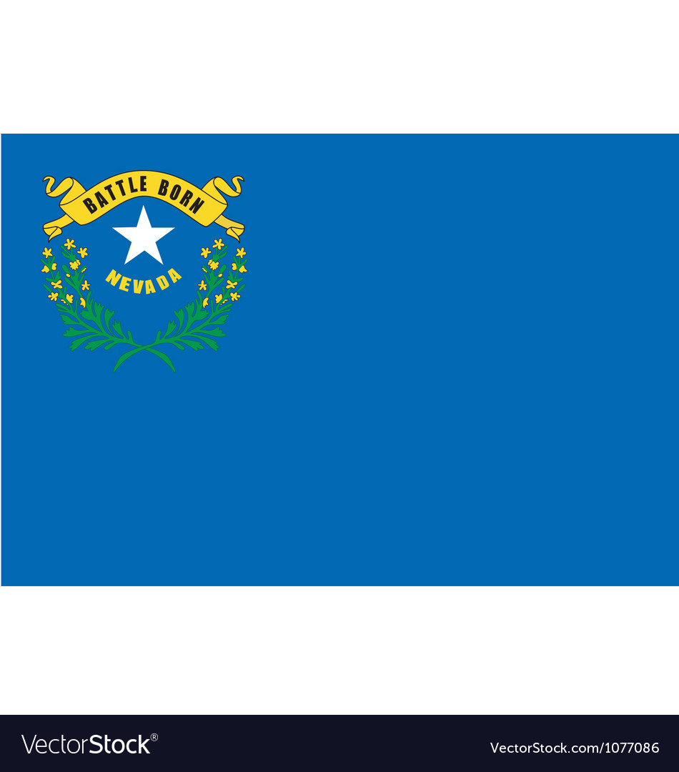 Nevedan state flag vector | Price: 1 Credit (USD $1)