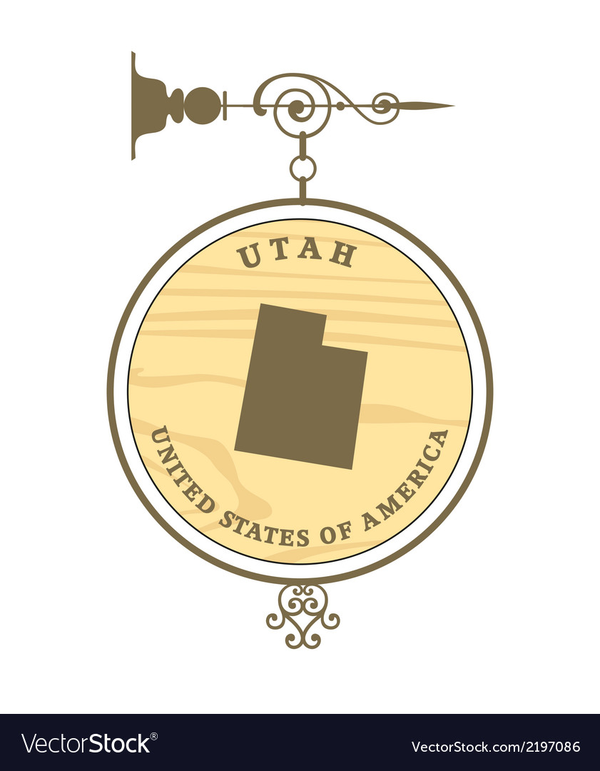 Vintage label utah vector | Price: 1 Credit (USD $1)