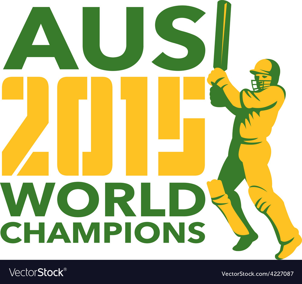 Australia aus cricket 2015 world champions vector | Price: 1 Credit (USD $1)