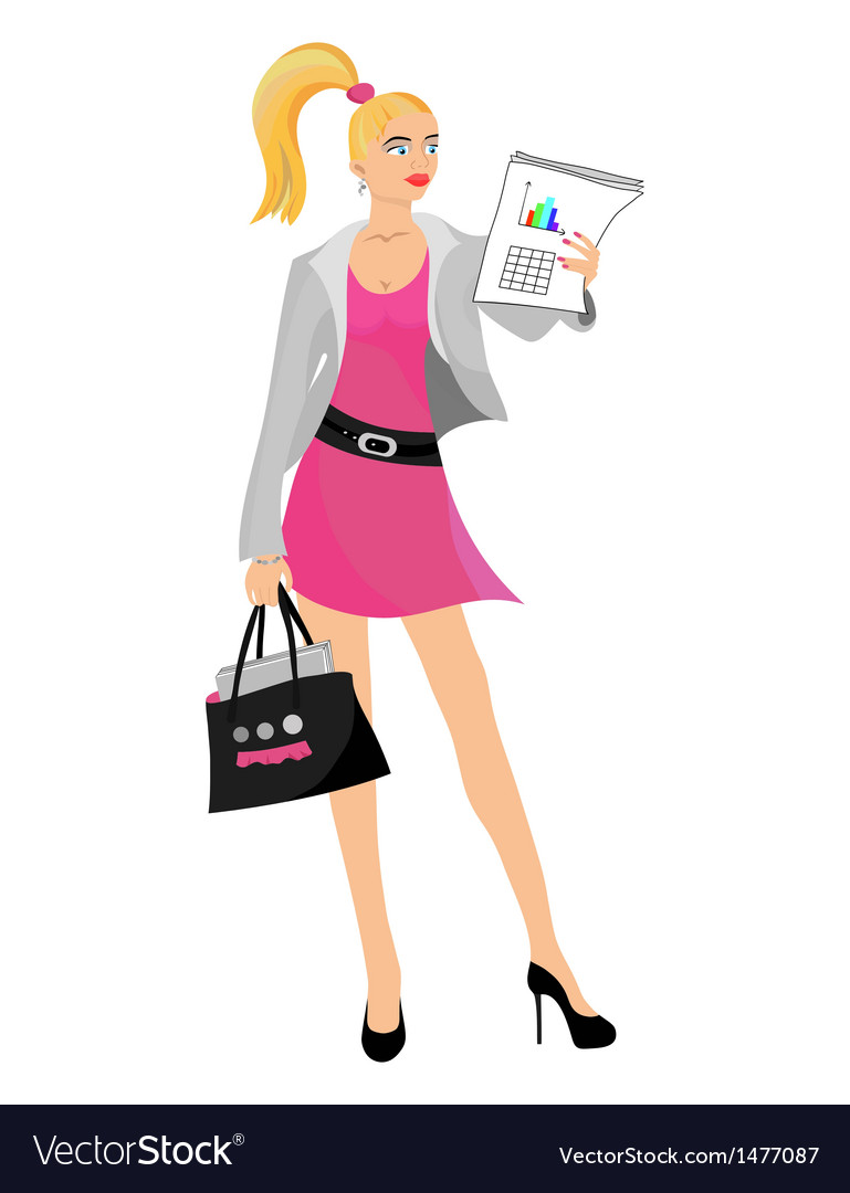 Business girl blond vector | Price: 1 Credit (USD $1)