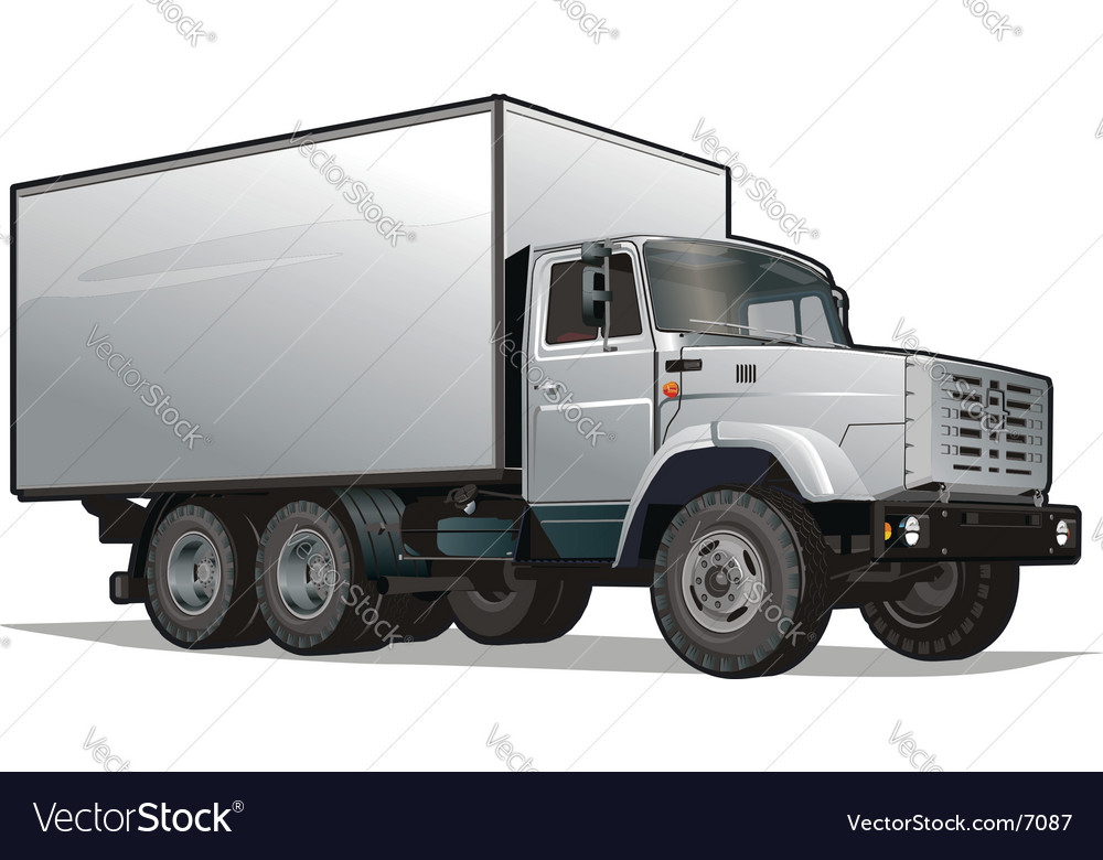Cargo truck vector | Price: 5 Credit (USD $5)