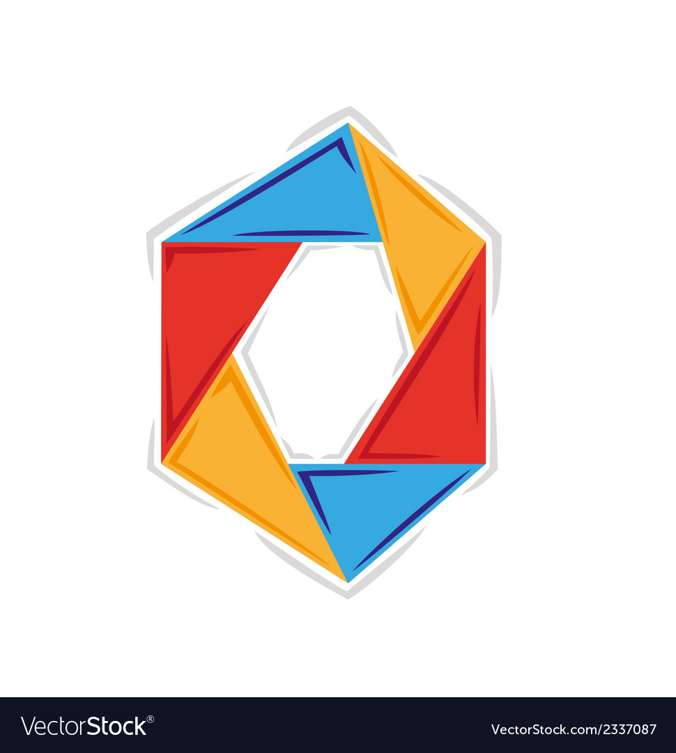 Circle created from six triangles with three vector | Price: 1 Credit (USD $1)