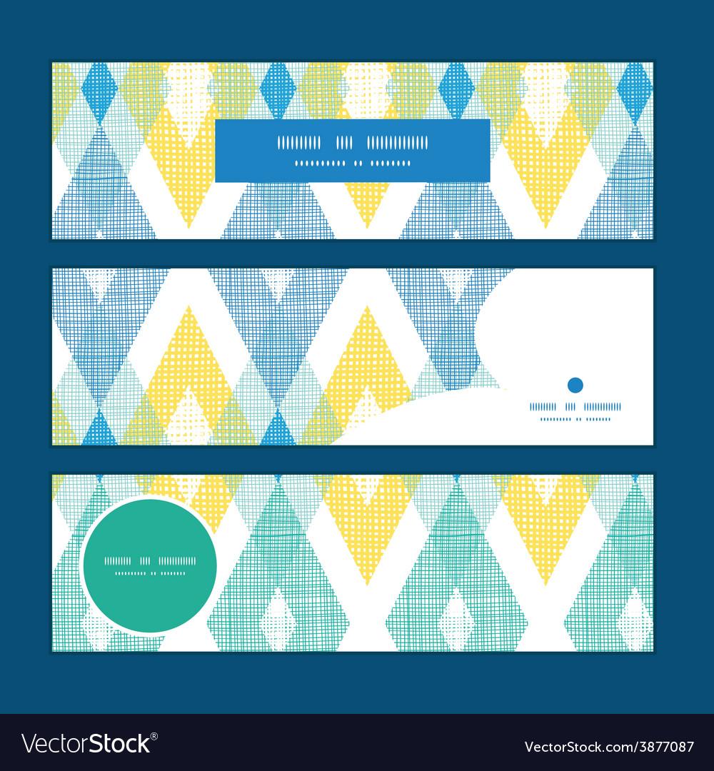 Colorful fabric ikat diamond horizontal vector | Price: 1 Credit (USD $1)