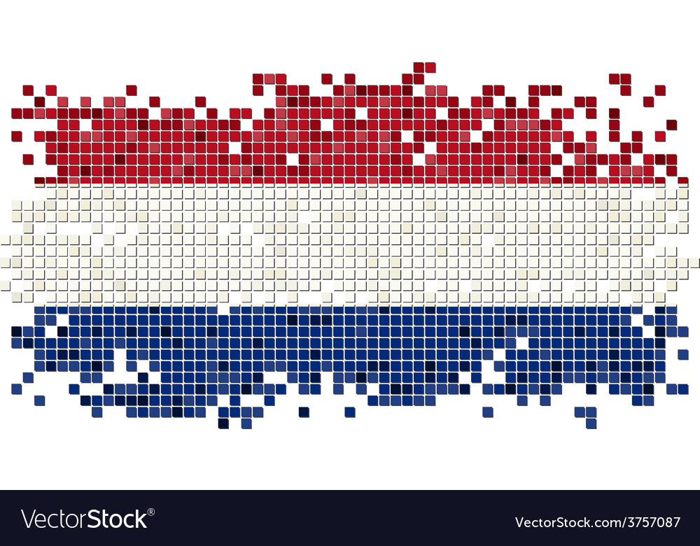 Dutch grunge tile flag vector   Price: 1 Credit (USD $1)