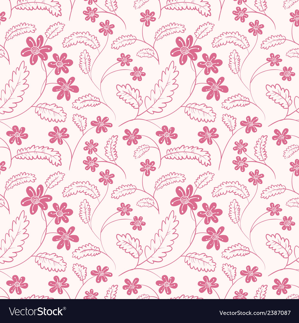 Floral minimalistic seamless vector | Price: 1 Credit (USD $1)