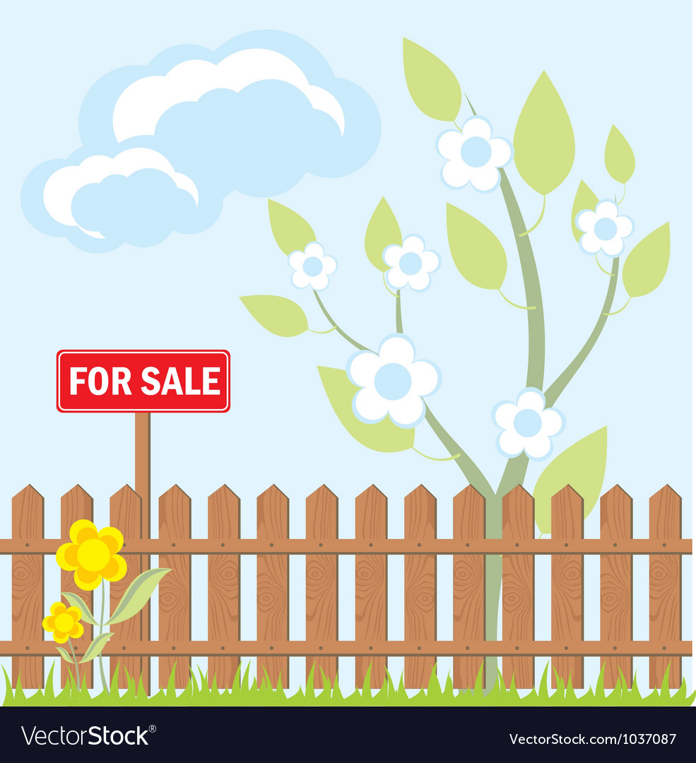 House sale sign vector | Price: 1 Credit (USD $1)