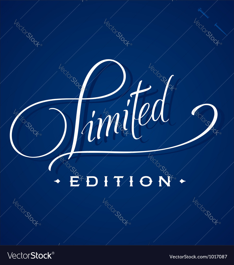 Limited hand lettering vector | Price: 1 Credit (USD $1)