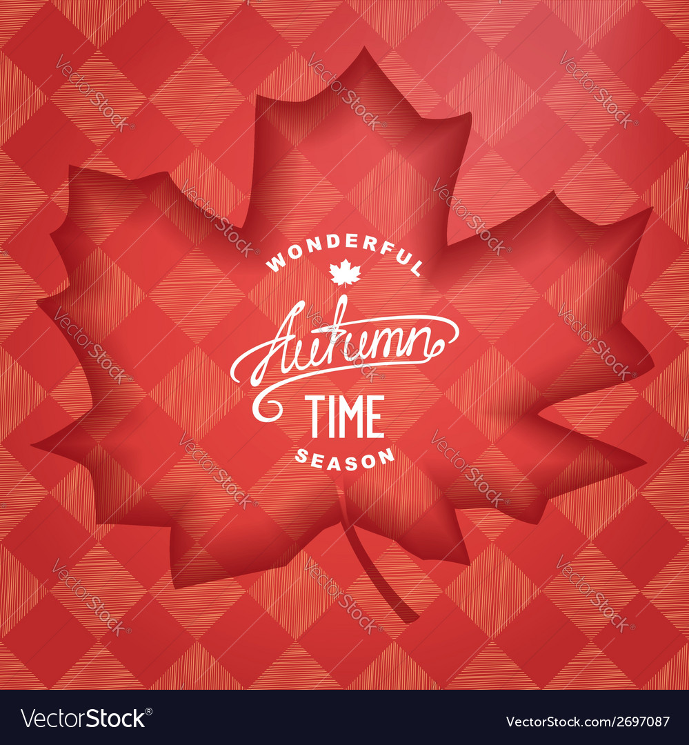 Wonderful autumn banner vector | Price: 1 Credit (USD $1)