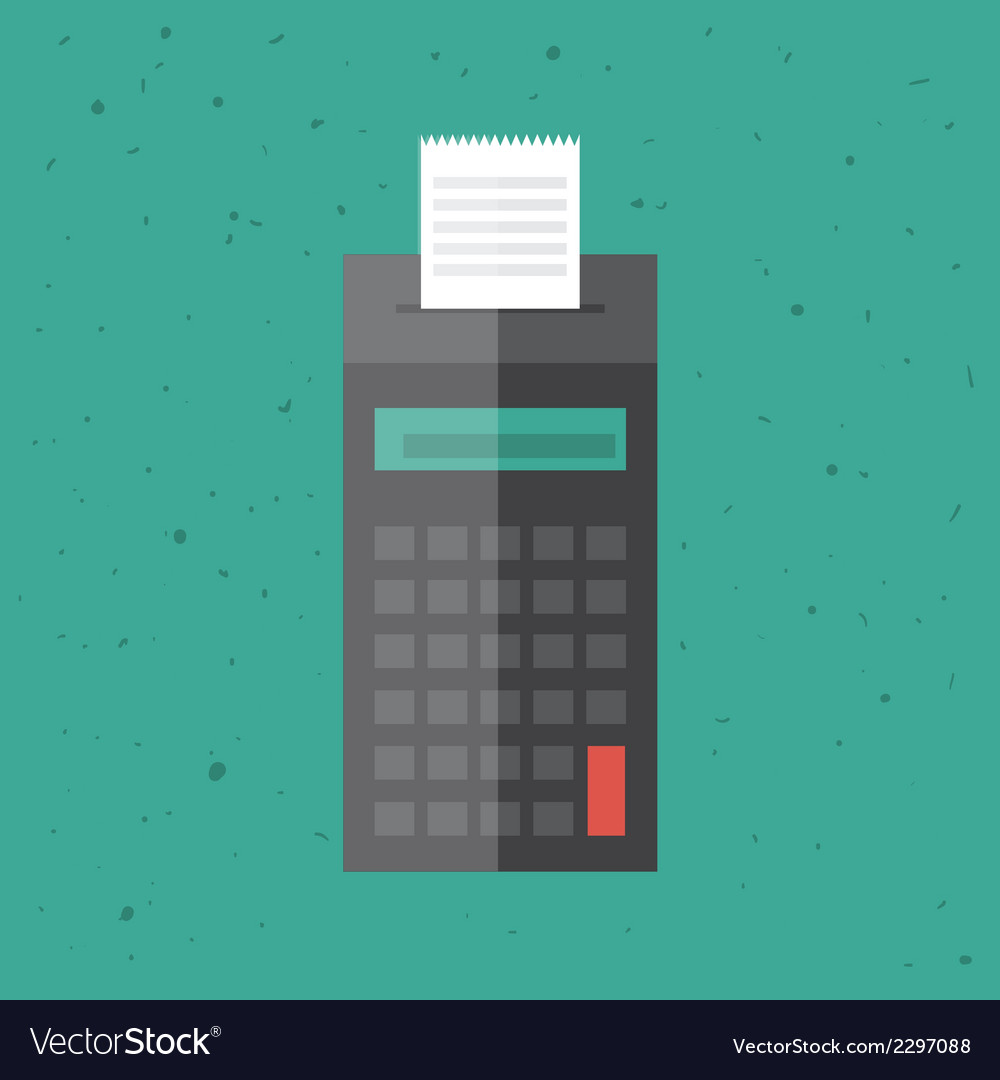 Billing machine vector | Price: 1 Credit (USD $1)