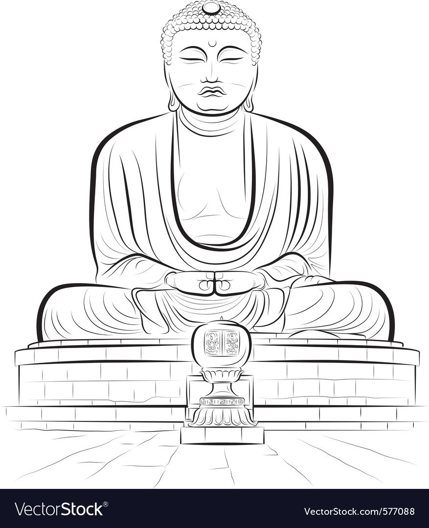 Buddha monument vector | Price: 1 Credit (USD $1)