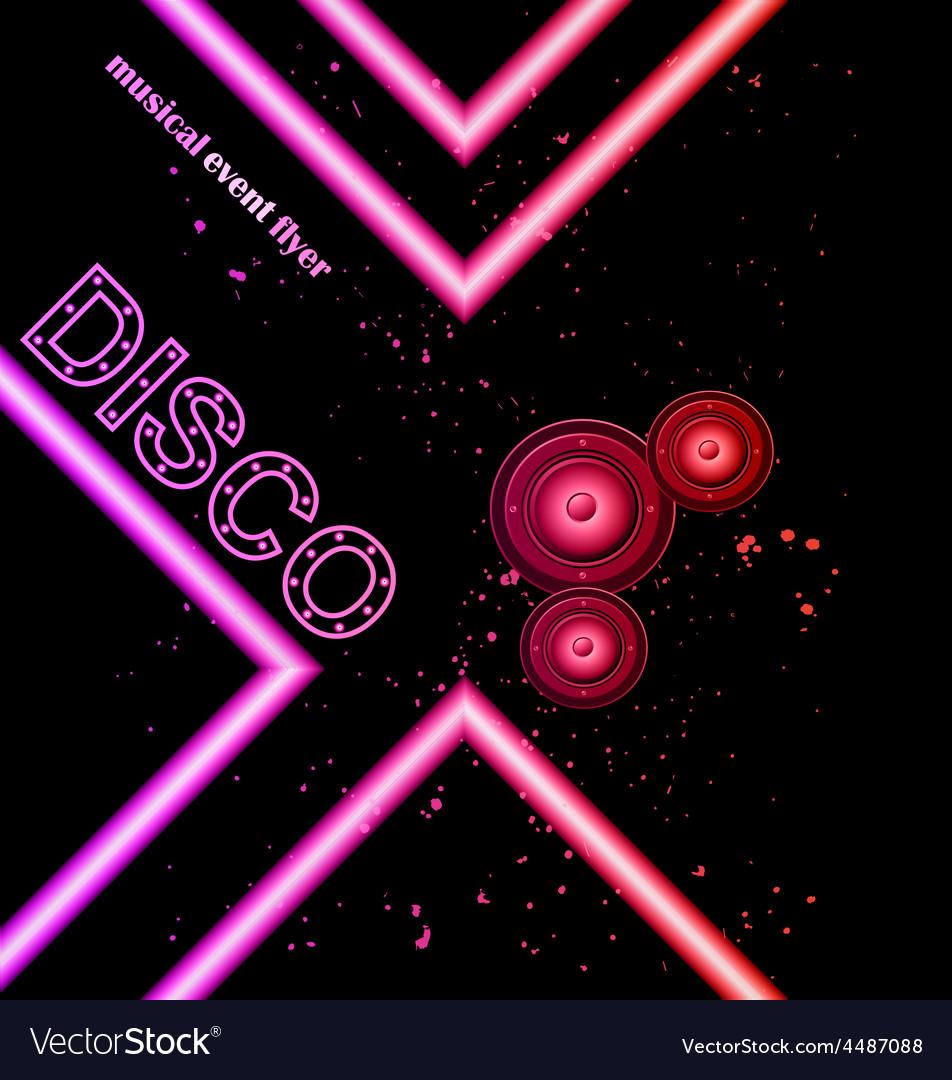 Disco club flyer vector | Price: 1 Credit (USD $1)