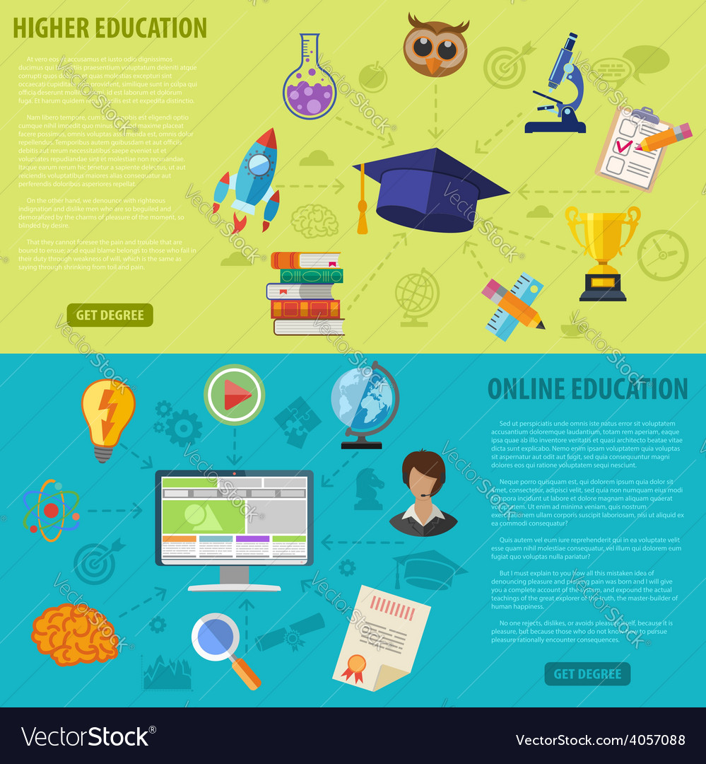 Education banners vector | Price: 1 Credit (USD $1)