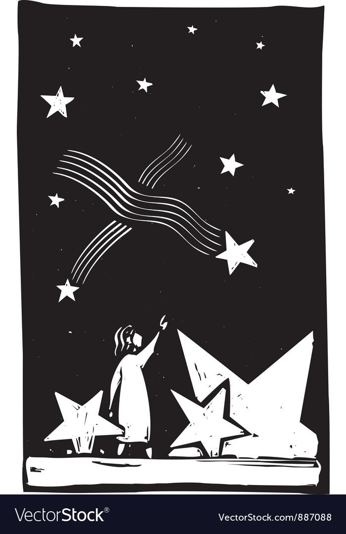 Falling star debris vector | Price: 1 Credit (USD $1)