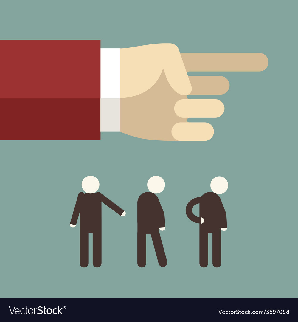 Flat design hand pointing and showing direc vector | Price: 1 Credit (USD $1)