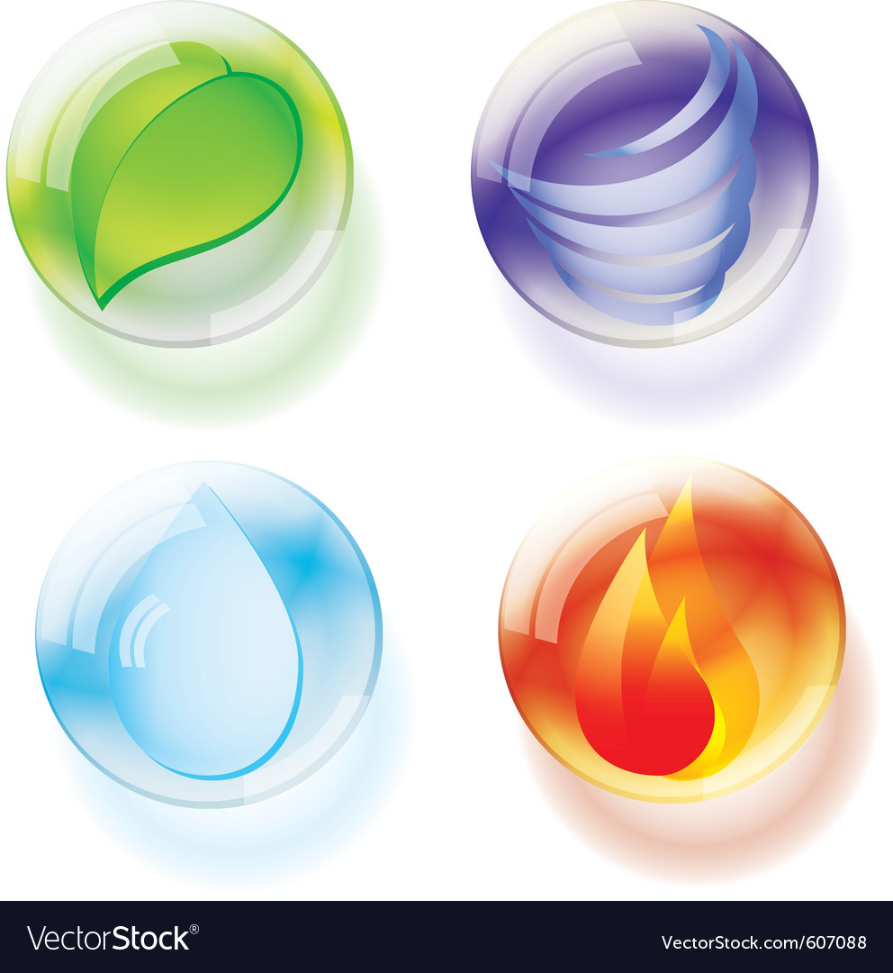 Four elements vector | Price: 1 Credit (USD $1)