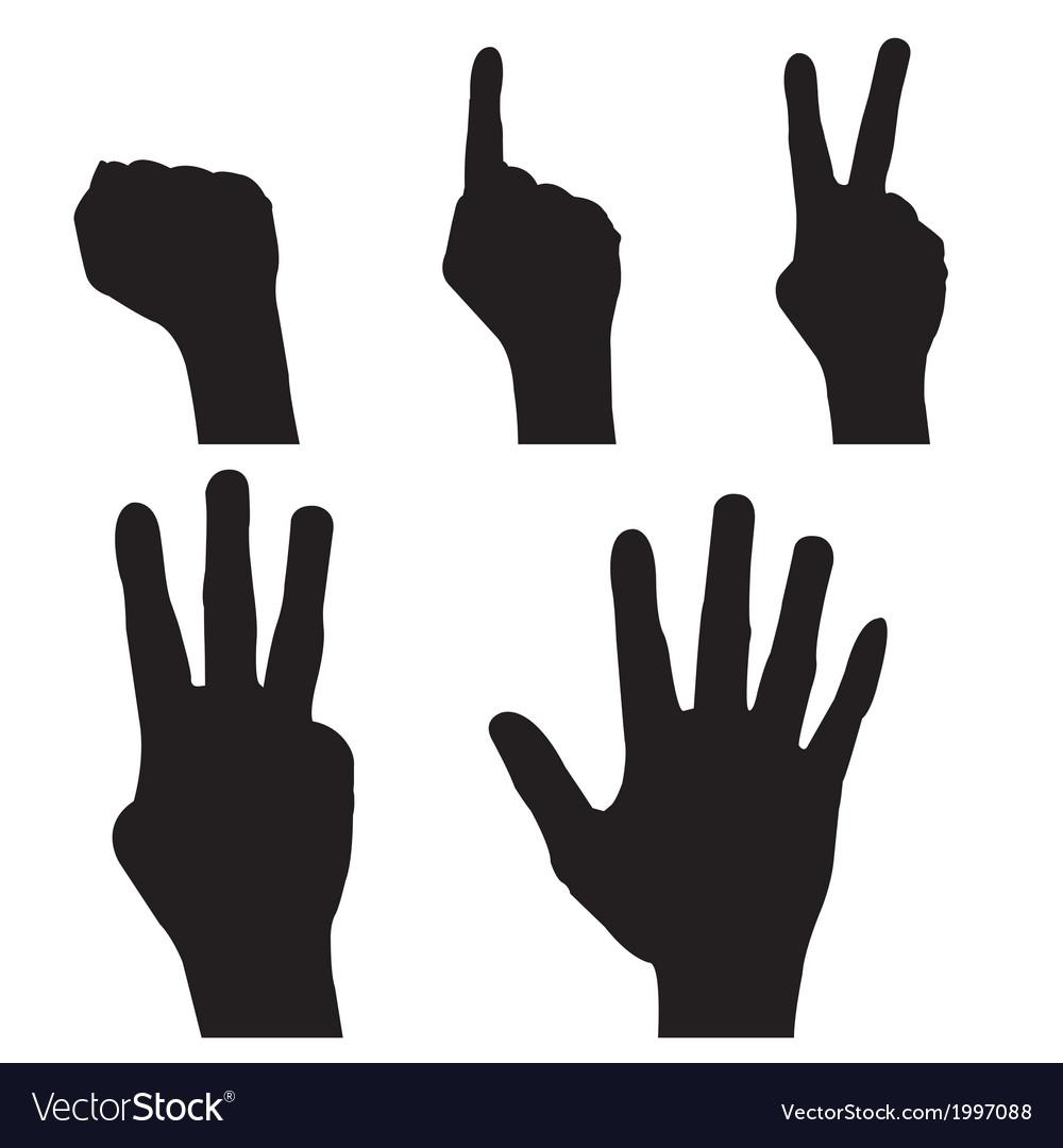 Hand signals vector   Price: 1 Credit (USD $1)