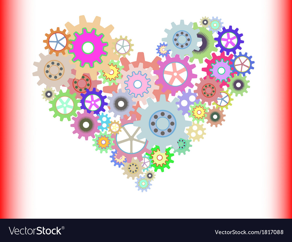 Heart gear vector | Price: 1 Credit (USD $1)