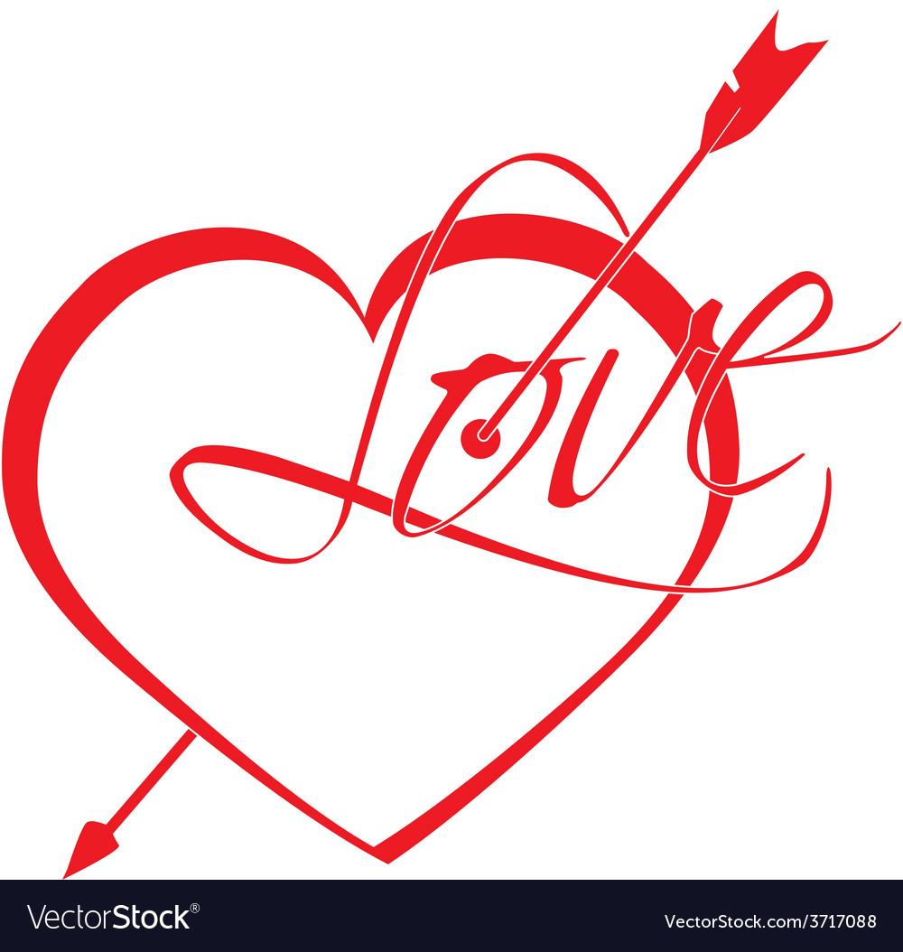 Heart struck by arrows vector | Price: 1 Credit (USD $1)