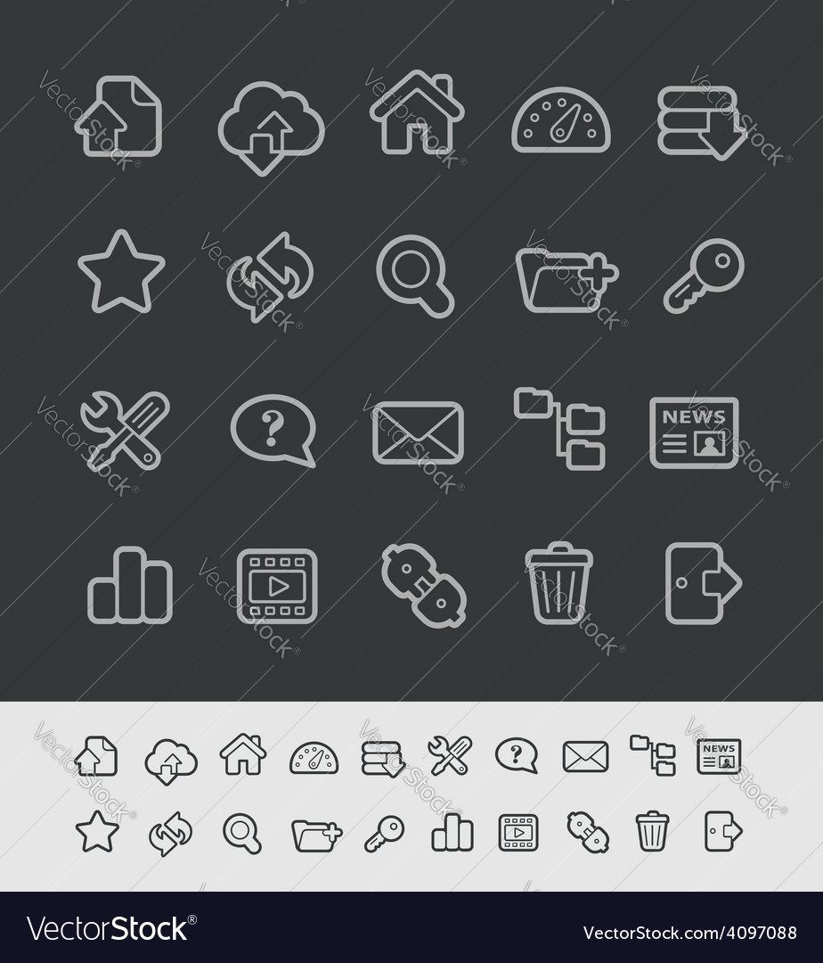 Hosting icons vector | Price: 1 Credit (USD $1)