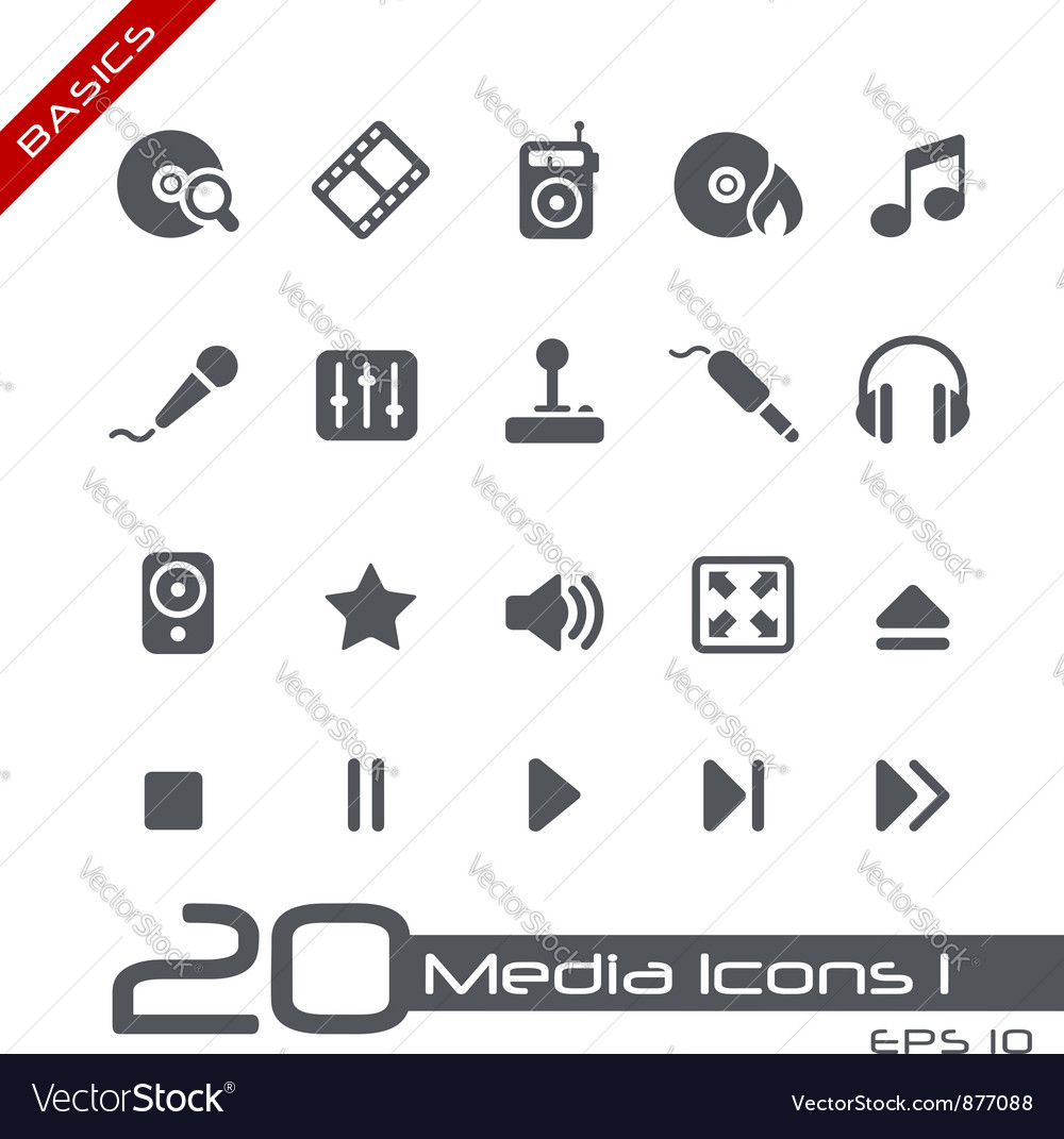 Media entertainment basics series vector | Price: 1 Credit (USD $1)