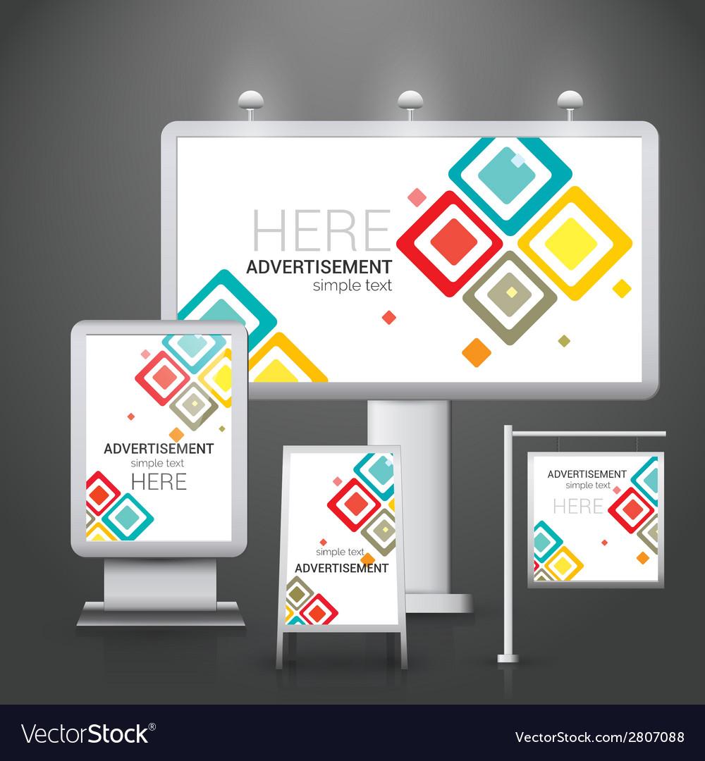 Outdoor advertising design vector   Price: 1 Credit (USD $1)