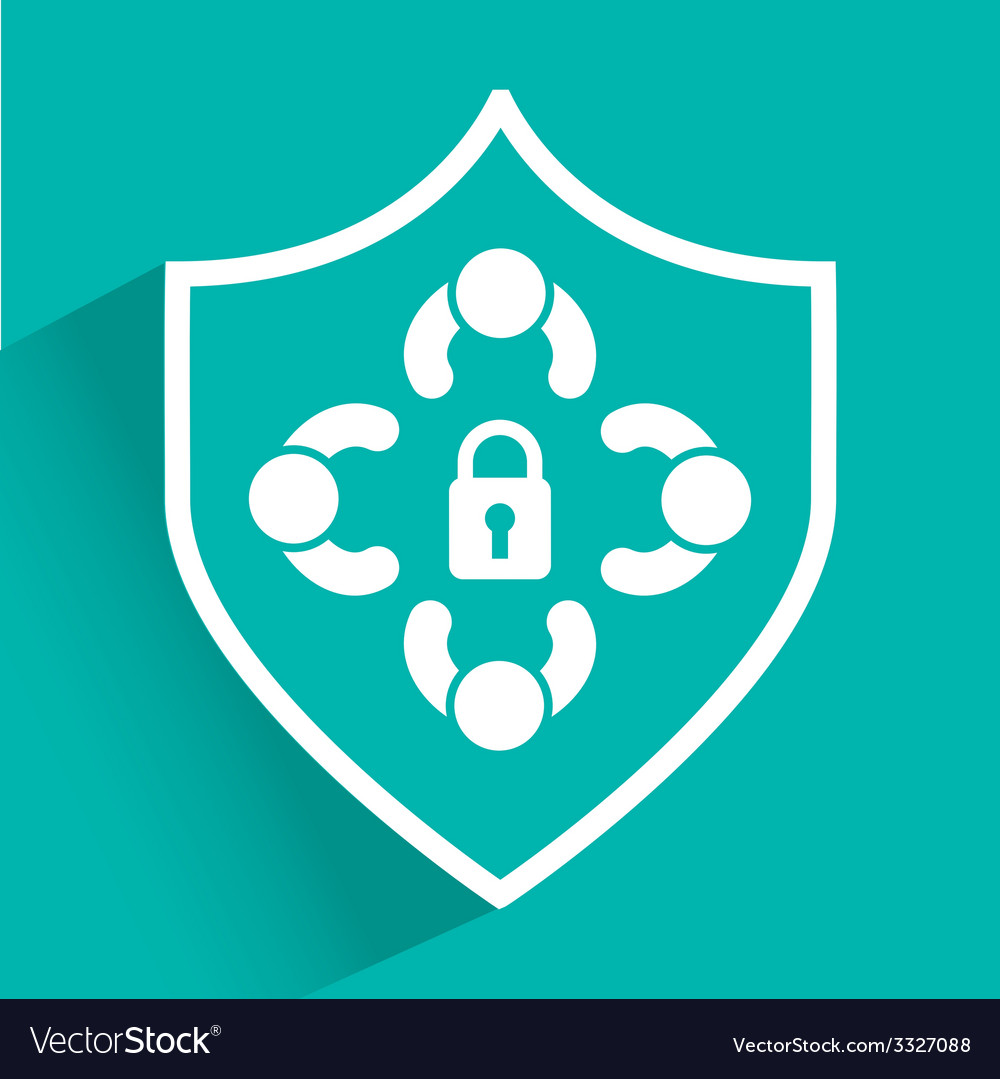 Security system design vector | Price: 1 Credit (USD $1)
