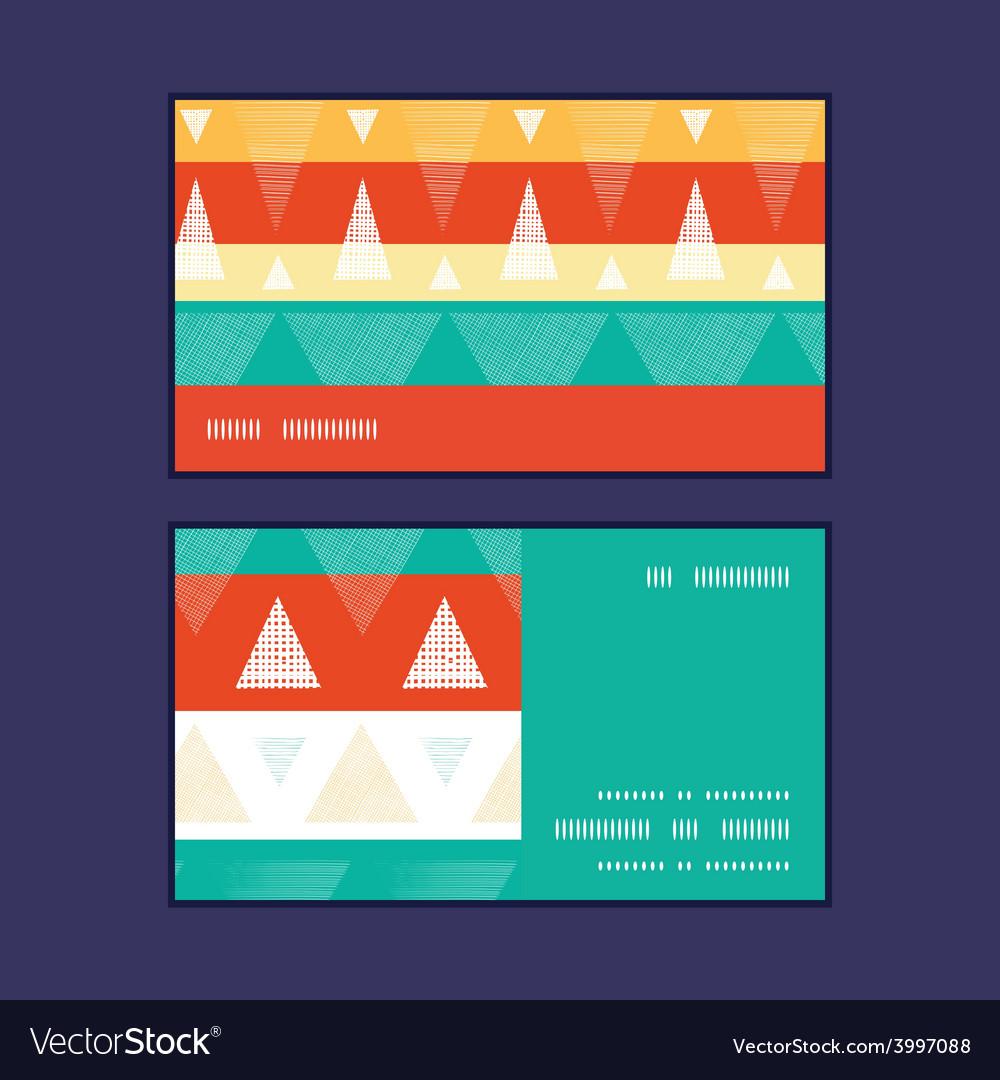 Vibrant ikat stripes horizontal stripe vector | Price: 1 Credit (USD $1)