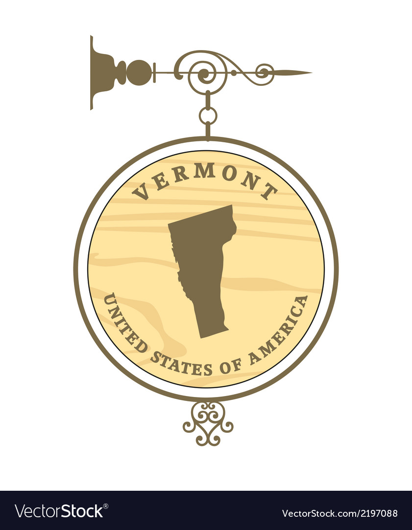 Vintage label vermont vector | Price: 1 Credit (USD $1)
