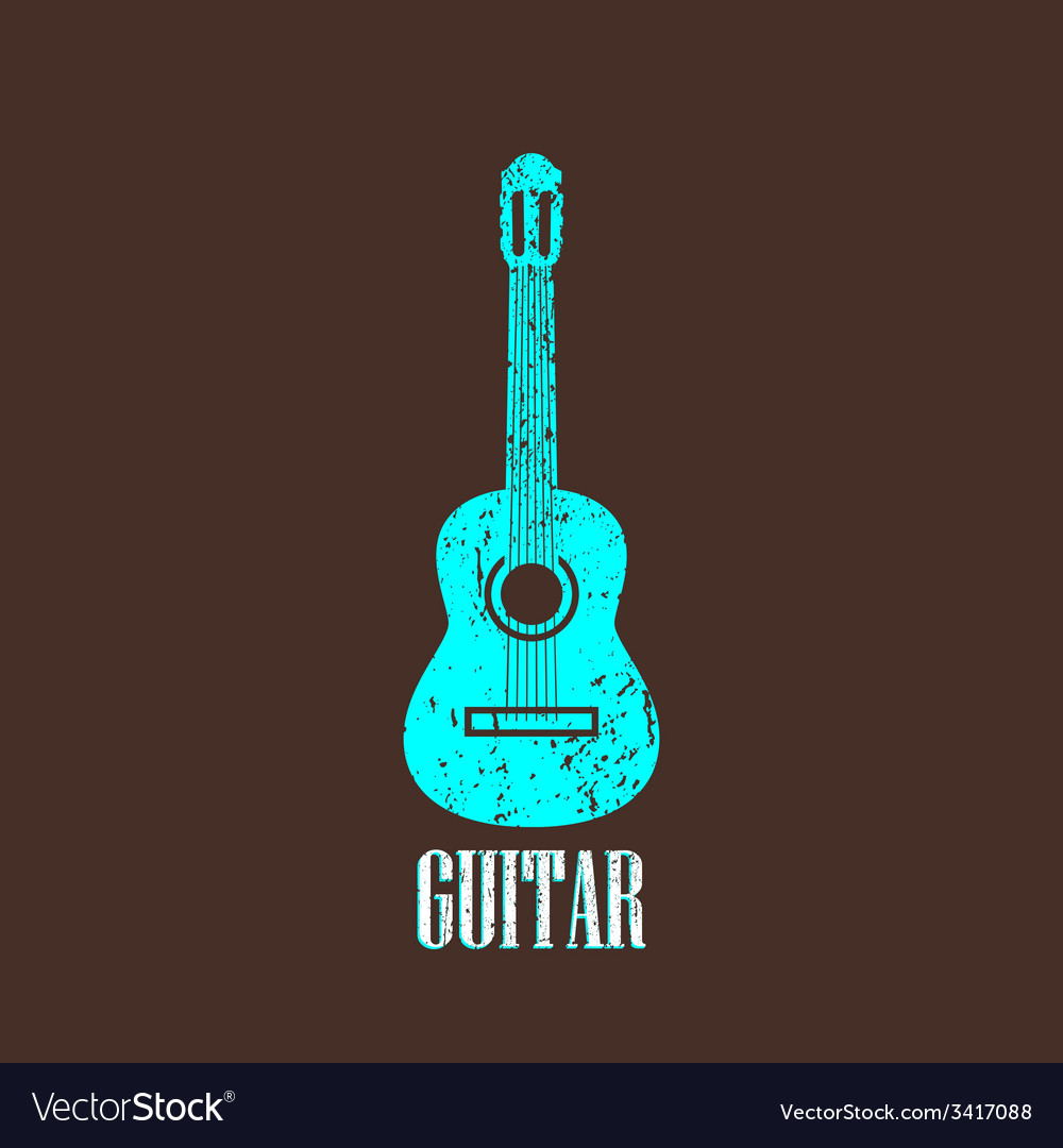 Vintage with guitar vector | Price: 1 Credit (USD $1)