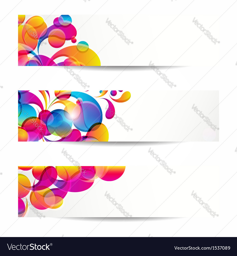 Abstract web banners vector | Price: 1 Credit (USD $1)