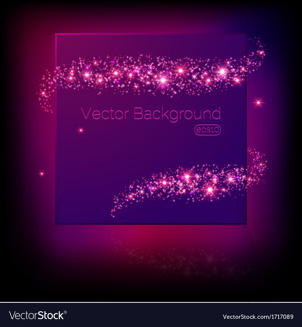 Banner surrounded by lights and sparkles vector | Price: 1 Credit (USD $1)