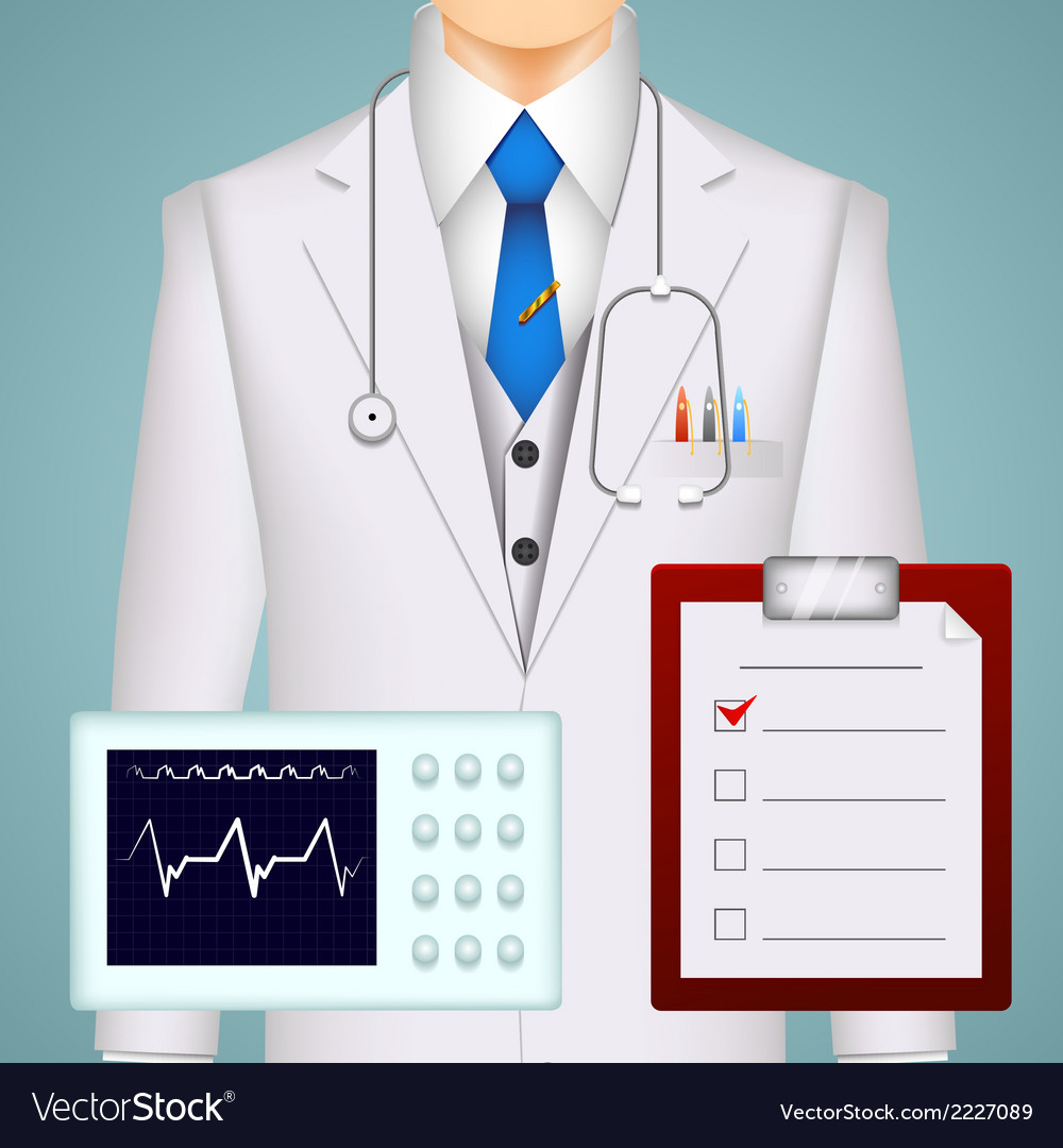 Doctor on medical background vector | Price: 1 Credit (USD $1)
