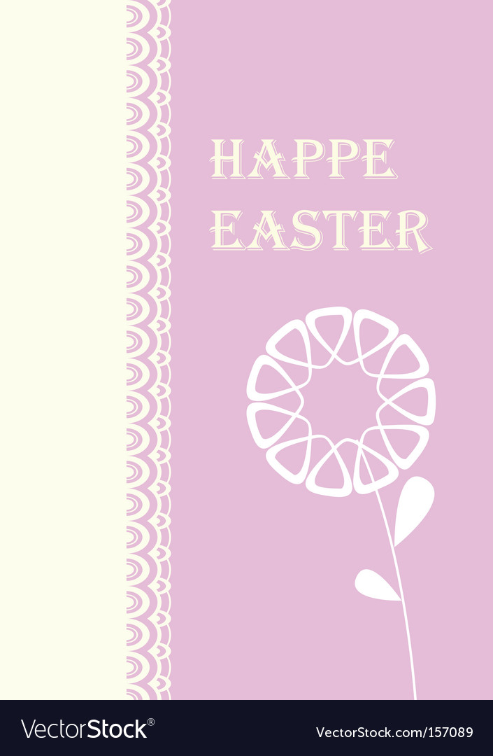 Easter card with flowers vector | Price: 1 Credit (USD $1)