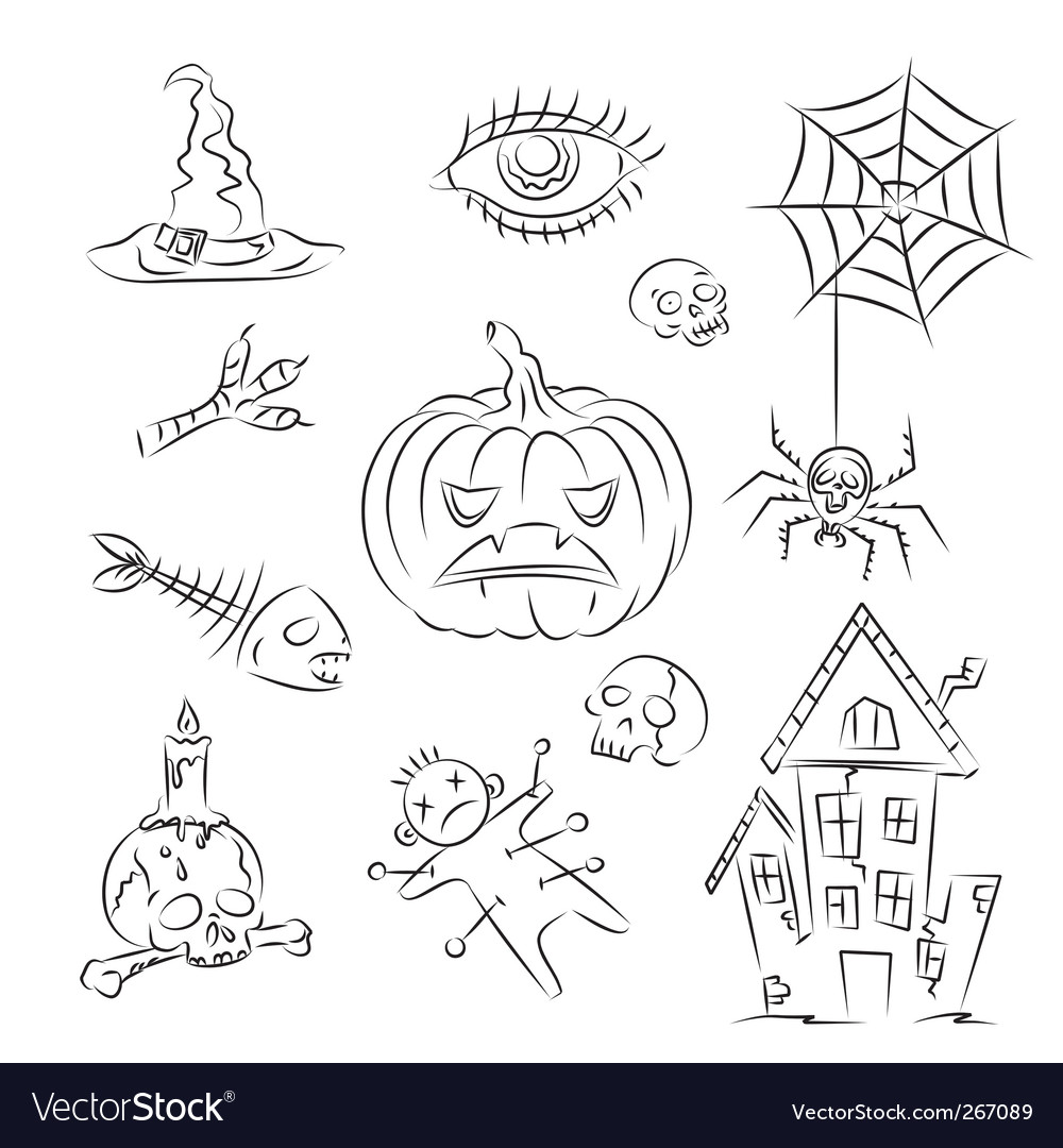 Halloween witch icons vector | Price: 1 Credit (USD $1)