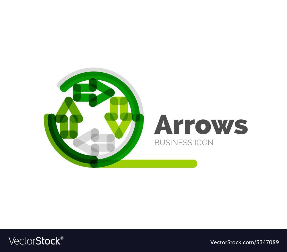 Line minimal design logo arrows vector | Price: 1 Credit (USD $1)
