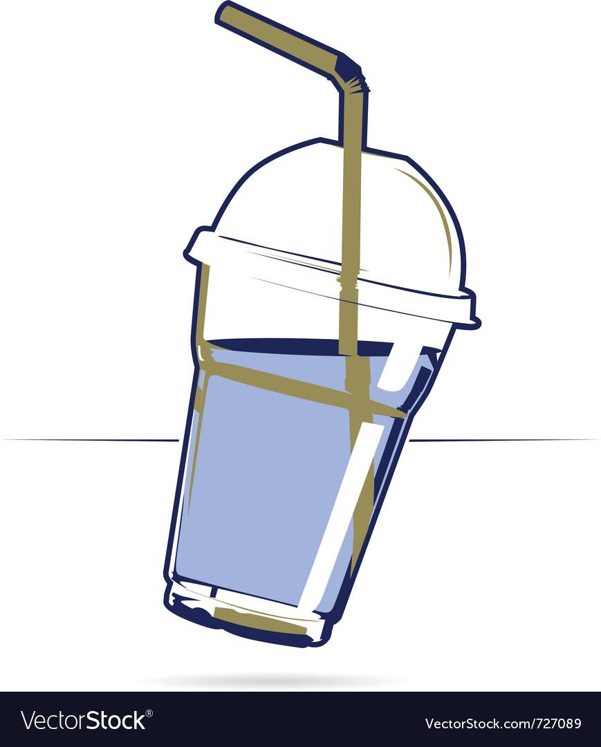 Plastic drink cup vector | Price: 1 Credit (USD $1)