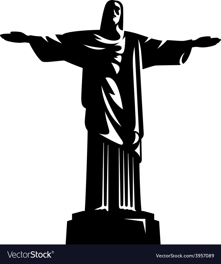 Statue of christ the redeemer vector | Price: 1 Credit (USD $1)