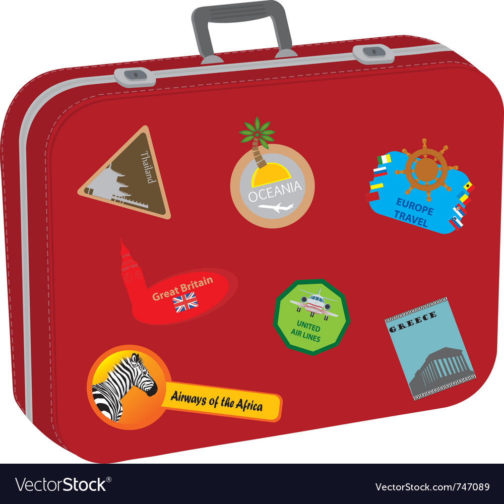 Suitcase baggage vector | Price: 1 Credit (USD $1)